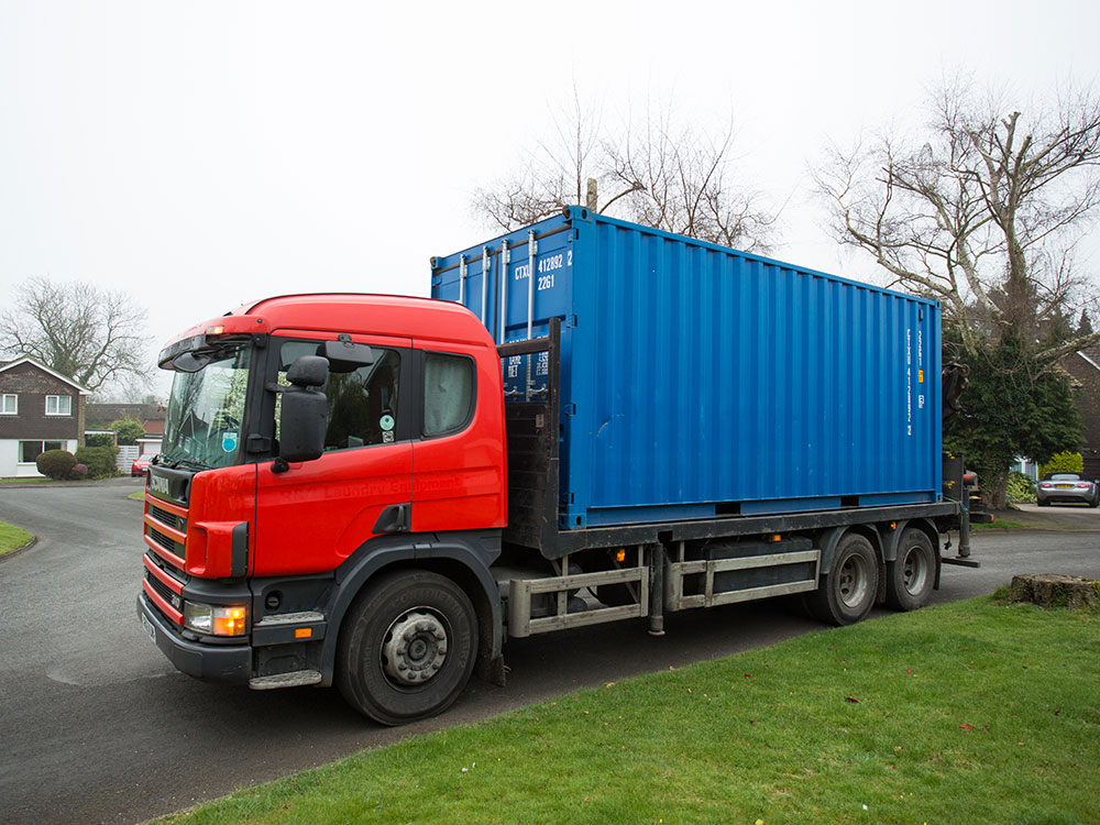 Container hire delivery
