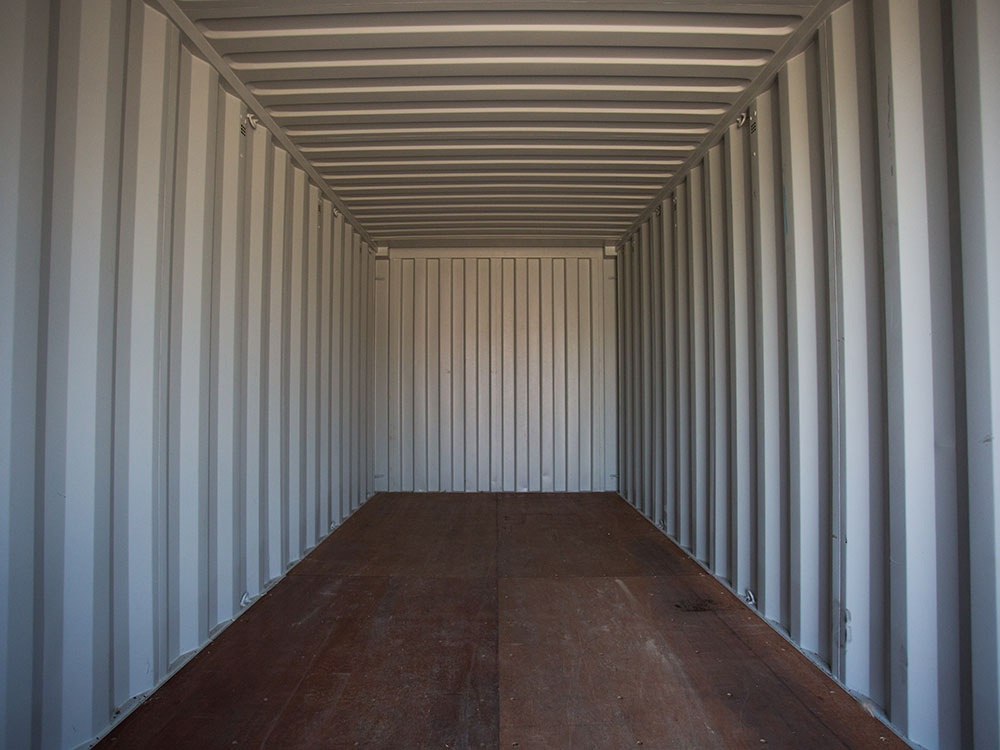 Storage container interior